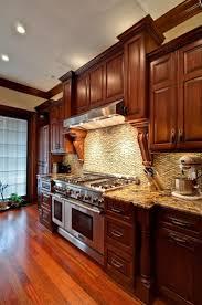 kitchen ideas cherry cabinets