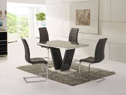 enzo grey gloss dining table chairs grey glass high gloss dining table and chairs set gloss dining set whi