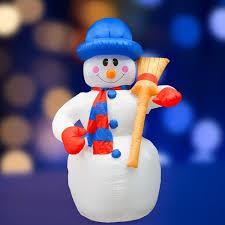 511-123 <b>NEON</b>-<b>NIGHT</b> 3d фигура надувная снеговик с метлой ...