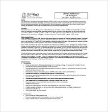 free legal office assistant job description sample template free download office assistant duties