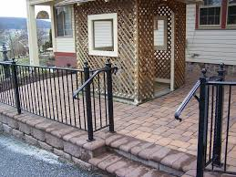 Custom Stair Railing Handrail Installation Iron Metal Stairway Railing Also Great