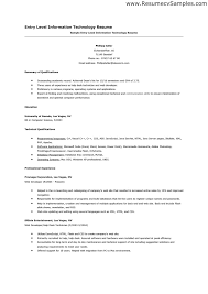 sample of entry level information technology resume   how to    sample of entry level information technology resume   how to   pinterest   information technology  resume and technology