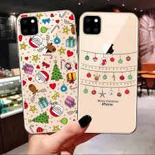<b>New Year Christmas Silicone</b> Cover For iPhone 11 Pro MAX ...