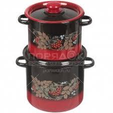 <b>Набор</b> эмалированной <b>посуды Сибирские товары</b> Рябинка 11 ...