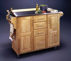leaf kitchen cart: cart with unpolished oak wood kitchen cart with metal top and drop leaves on island
