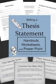 an example of a strong thesis statement