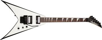 jackson js32 king v floyd rose white black bevels electric guitars jackson js32 king v floyd rose white black bevels