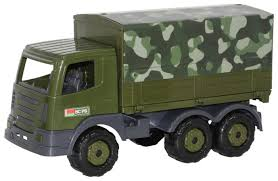 Купить <b>Грузовик Полесье</b> военный <b>бортовой тентовый</b> Престиж ...