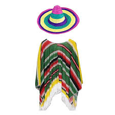 TENDYCOCO 1 Set Mexican Straw Hat Suit Mexican <b>Clothes</b> ...