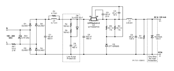 12 w non dimmable non isolated buck led driver eeweb power figure 2 schematic diagram circuit description