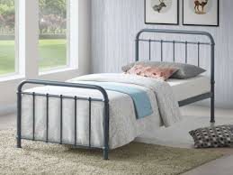 Time Living Miami <b>Grey Metal Bed Frame</b>