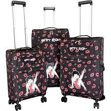 "<b>Betty Boop</b> 3pc 20""+24+28"" Set Luggage <b>Collection</b> 4 Design ..."