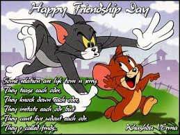 Happy Friendship day wishes with Tom and Jerry photos via Relatably.com