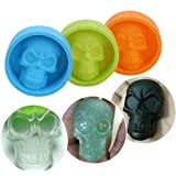 Skull Shaped 3D <b>Silicone Cake Mold Baking Mould</b> for <b>Halloween</b> ...