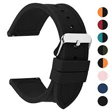 Fullmosa <b>Silicone Rubber 22mm</b> Watch Strap,8 Colors for Rainbow ...