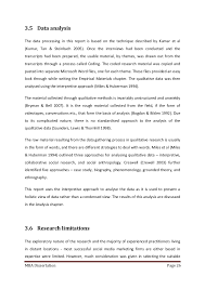 MBA Dissertation Page