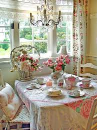 Shabby Chic Dining Room Furniture For Shabby Chic Rose Tablecloth Floral Vintage Table Settings Lace