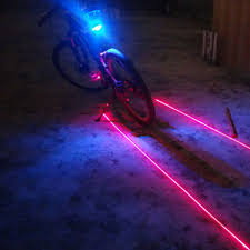 Bicycle Lights & Reflectors Sporting Goods Red <b>5 LED Bike</b> Bicycle ...