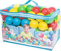 <b>Мячи для игр пластмассовые</b> BestWay 6,5 см 100 шт. 52027 BW ...