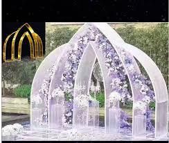 <b>Wedding props</b> iron art <b>screen</b> sunshine board wave golden arch ...