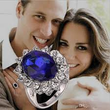 diana william engagement wedding created sapphire necklace jewelry 925 sterling silver pendant with 45cm box chain