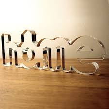 Acrylic, PVC and Wooden 3D Lettering Decor - My <b>eHome Decor</b> ...