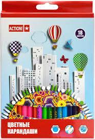 <b>Action</b>! <b>Набор цветных карандашей</b> 18 цветов — купить в ...