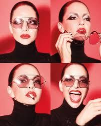 Benedetta Mazzini wearing our Retro Vintage Round <b>Sunglasses</b> ...
