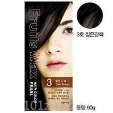 Welcos <b>Fruits</b> Wax Pearl Hair Color 03 Dark Brown <b>краска для</b> ...