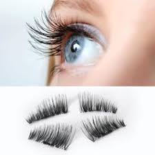 1 Pair <b>3D Magnetic Eyelashes</b> No Glue Required Ultra Thin ...