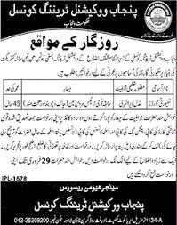jobs in punjab vocational training institute feb