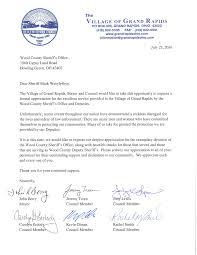 appreciation letter from grand rapids ohio wood county an appreciation letter from the officials of the village of grand rapids