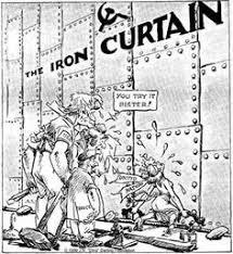 """「1946, winston churchill spoke """"iron curtain"""" in missouri criticising russia」の画像検索結果"""