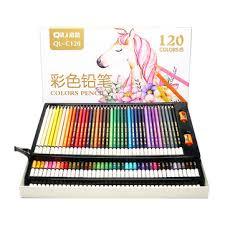 <b>qili</b> ql-c120 120 colors wood colored <b>pencils</b> artist painting oil color ...