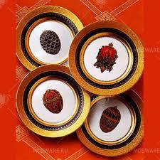 <b>Набор</b> Faberge Cobalt <b>Blue</b> из 4-х <b>десертных тарелок</b> 6500-024BL