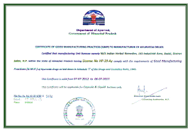 gmp certified manufacturing as a gmp certified ayurvedic manufacturer n herbal remedies is an authentic manufacturer of safe and effective proprietary ayurvedic medicines