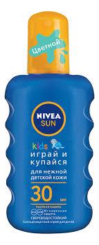 Купить цветной <b>солнцезащитный спрей для детей</b> sun kids spf30 ...