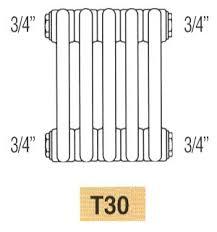 <b>Радиатор IRSAP TESI3</b> 30565/26 T30, 26 секций, боковое подкл 3/4