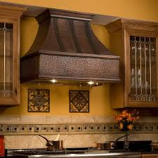 series vent hood: quot tuscan series copper wall mount range hood with riveted bands