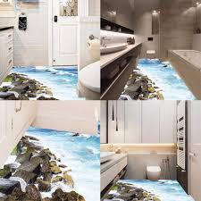 <b>Pdtoweb 3D</b> Removable <b>Beach</b> Stone Floor Wall Sticker Mural ...