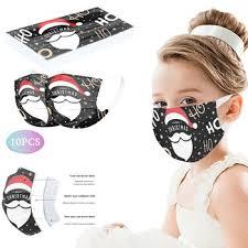 <b>10PCS Disposable</b> Unisex Printed White Soft Masks For <b>Kids 3</b> ...