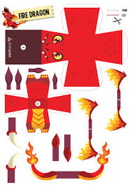 a christmas present from dragon city social point paper toy firedragon 1