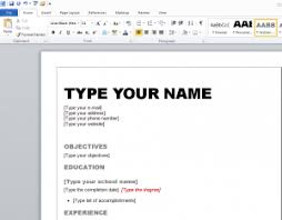 make a resume on word   best resume gallerymake resume microsoft word