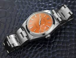 mens swiss vintage rolex oyster perpetual date 1500 orange dial c mens swiss vintage rolex oyster perpetual date 1500 orange dial c 1950s 5064