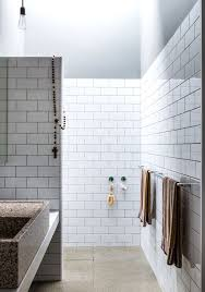 century bathroom design plain white wall