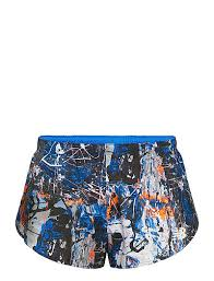 <b>Printed 3in Split Short</b> (Blue With White) (17 €) - New Balance ...
