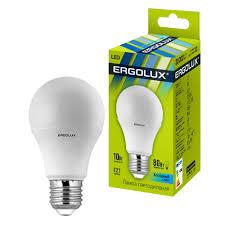 Продаем <b>Лампа светодиодная Ergolux LED-A60-10W</b>-E27-4K ...