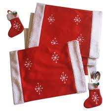 household dining table set christmas snowman knife:  sets lot christmas snowflake table mat navidada with sock knife ampamp fork bag