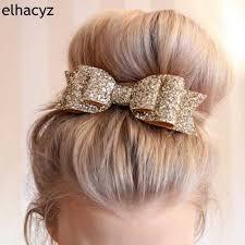 "2pcs/lot <b>Retail</b> 55 Colors <b>Chic</b> European 3"" Glitter Leather Hair Bow ..."