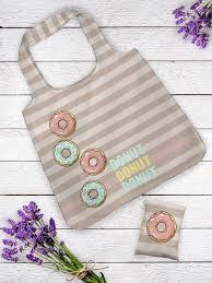 Пляжная сумка женская IQ Komfort 1734234 Пончики бежевая ...